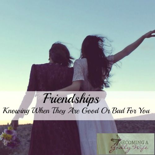 Today I am sharing my thoughts on Friendships and how to know when those friendships are good or bad for you.