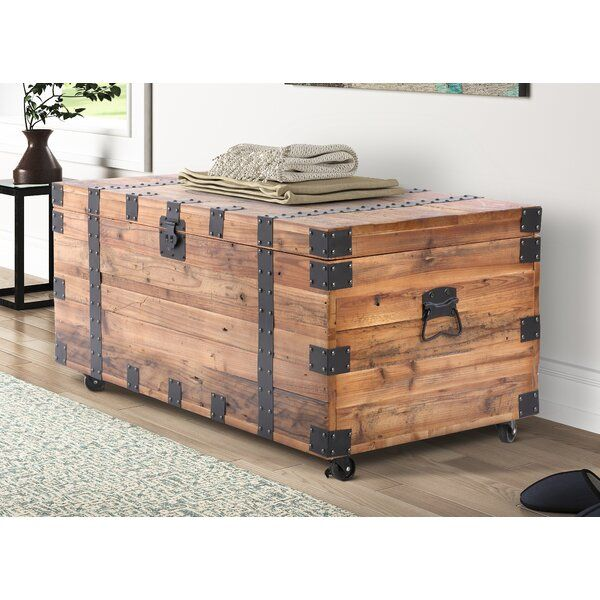 Drakeford Accent Trunk In 2020 Wooden Gears How To Distress Wood Wood And Metal
