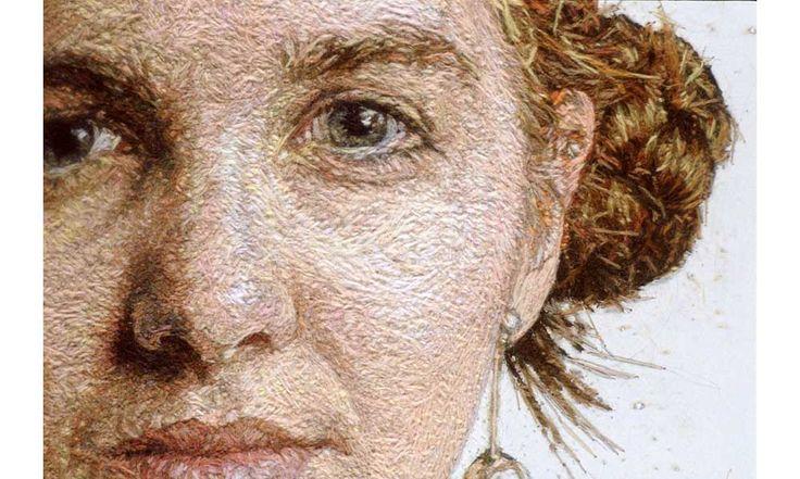 Embroidery portraits by Cayce Zavaglia