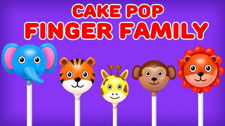 cake Pop Finger Family - Wild Animals Finger FamilySong|Ice Cream, Easter Eggs and More Cake Pop Finger Family Songs for kids