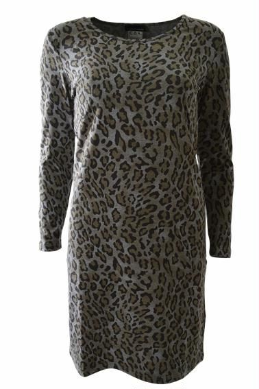 Dress, jersey, olive animal print, was €99 - NOW €79