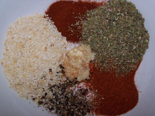 Jamie Oiver's Cajun Spice Mix. Jamie gebruikt 1 eetlepel knoflookpoeder ipv verse knoflook