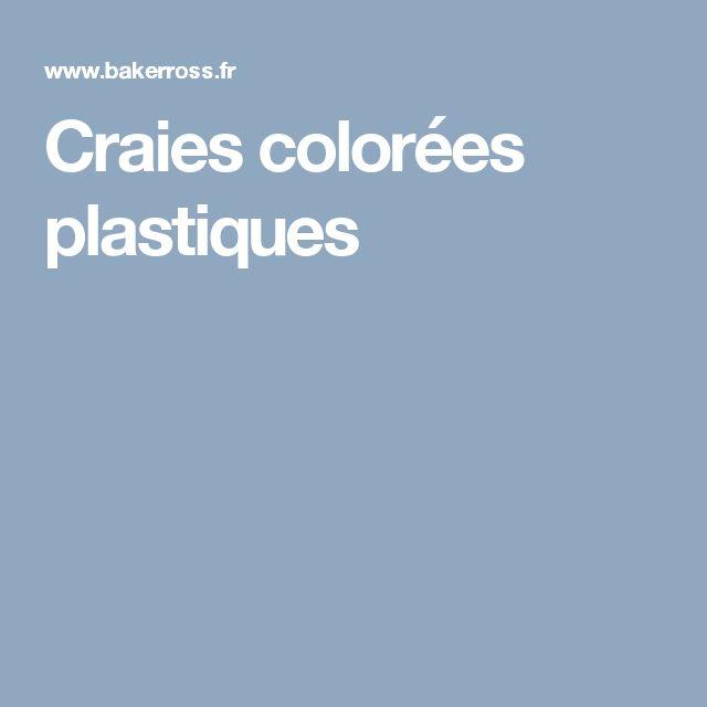 Craies colorées plastiques