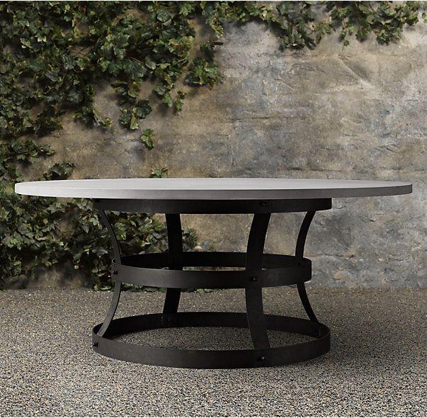 weathered concrete metal basket round dining table pergola pinterest metal baskets round. Black Bedroom Furniture Sets. Home Design Ideas