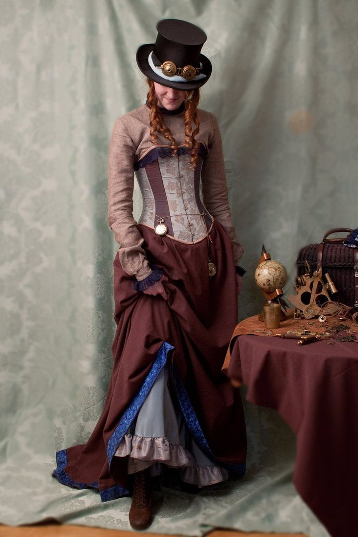 Need a costume idea for Halloween or for a cosplay event? Why not go  Victorian Steampunk! Get ideas on how to dress Victorian Steampunk for men  and women.