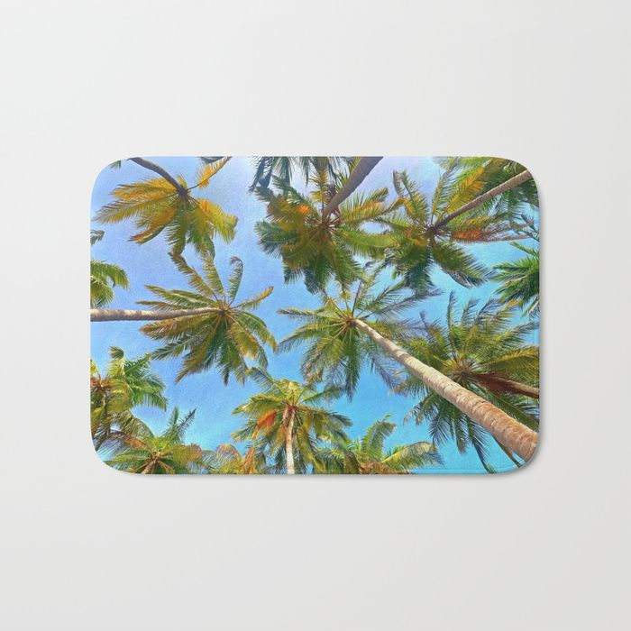 Buy Palm Trees Bath Mat By Newburydesigns Worldwide Shipping Available At Society6 Com Just One Of Millions Of High Quality Palm Tree Bath Mat Bath Mat Mats