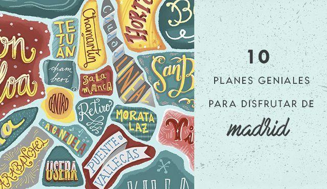 Hacía mucho que no hacía un post recomendando cosas de Madrid, y ya iba tocando. En esta ocasión son 10 planes originales, variados y que os harán disfrutar de la ciudad desde otra perspectiva. Uno
