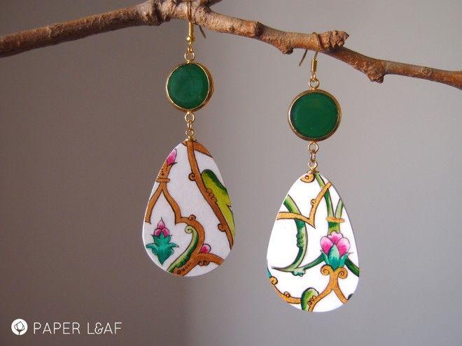 orecchini di carta Arabesque