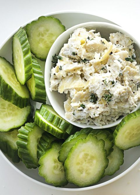 how to cut canned artichoke hearts for dip