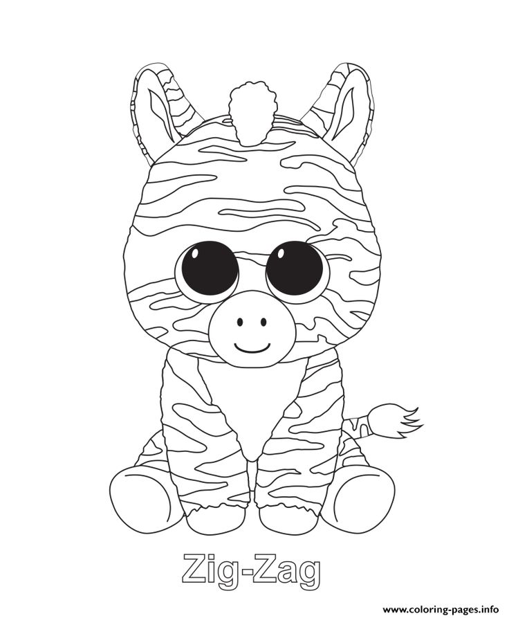 Print zig zag beanie boo coloring pages embroidery