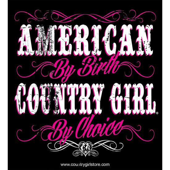"5"""" x 5.5"""" Sticker - American By Birth Country Girls® By Choice"