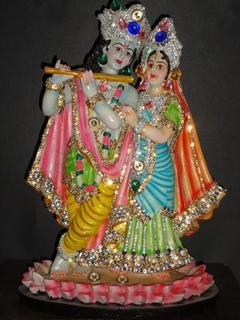 So everyone say radhe radhe sham milade....Decorative as well as for pooja... Krishna & Radha  1. Marble Finished excellent pcs 2. Specialy Desi - with unique Zorcons fitting technics 3. The entire pcs is washable & five year warranty ( not for damage of stones ) . 4. Free shipping all over world  For order ---- +91-9815483945 ( for whatsapp also ) Price --- 5600/---- $ 95 usd dollars