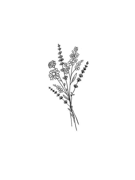 Minimalist Simple Flower Circle Tattoo: Minimal Phone Wallpaper Background Ideas
