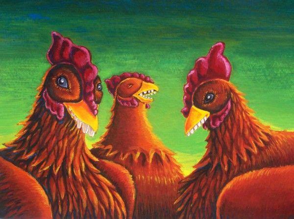 Quand les poules auront des dents = jamais!