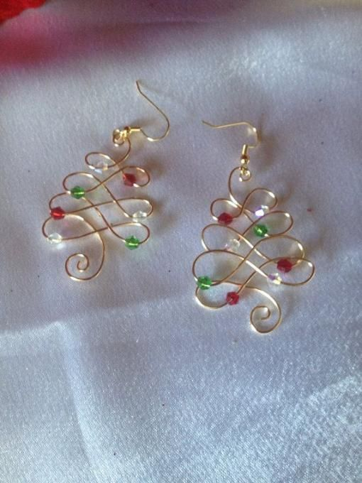 Wire Wrapped Earrings                                                                                                                                                      More