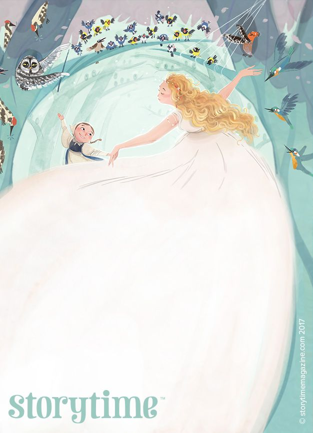 Betushka dances with the Wood Fairy in our tale from Czech Republic, Storytime Issue 29! Art by Teresa Martinez (https://www.behance.net/teresamtz). ~ STORYTIMEMAGAZINE.COM