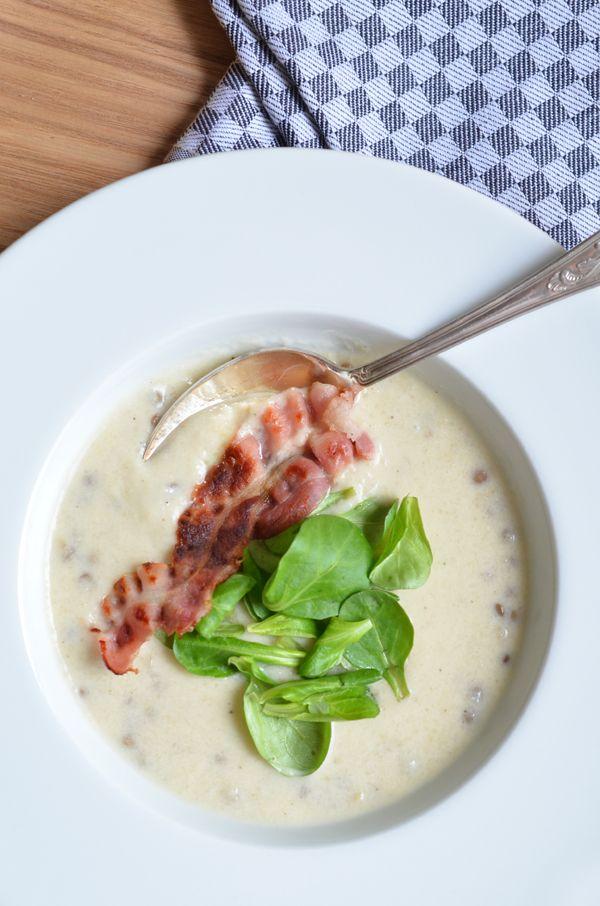 Petersilien-Linsen-Suppe mit Honig-Speck (www.rheintopf.com) #herbst #suppe #rezept #autumn #soup #recipe
