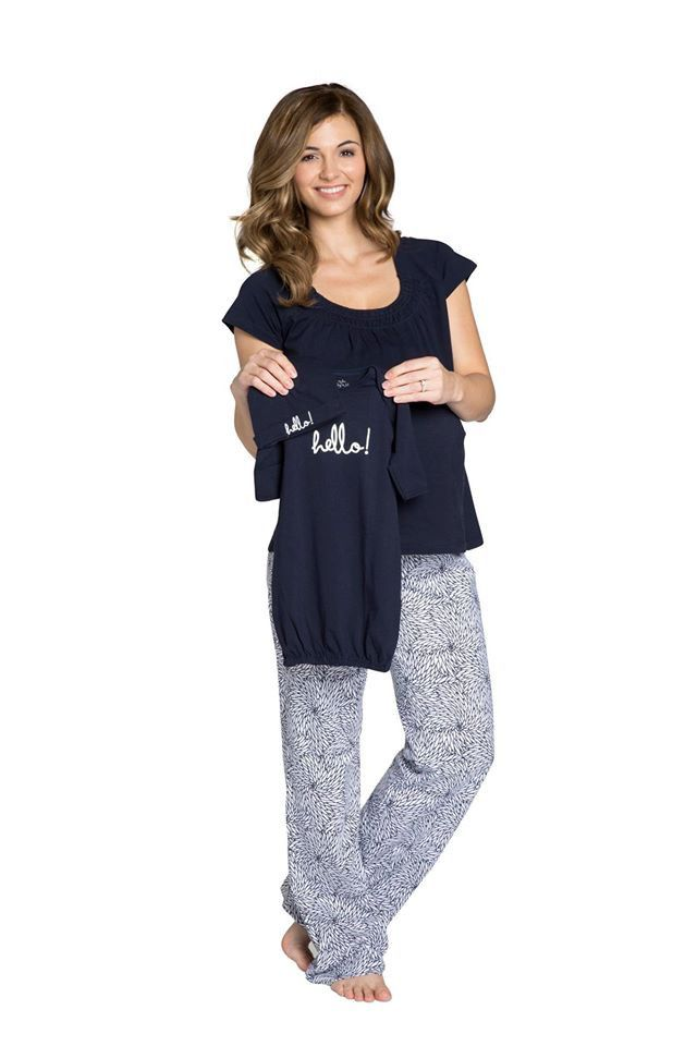 Relax in style & comfort with these easy to wear pajamas. With an elasticated waistband and an adjustable drawstring to allow for your changing shape. Two in one functionality, these pi's are designed