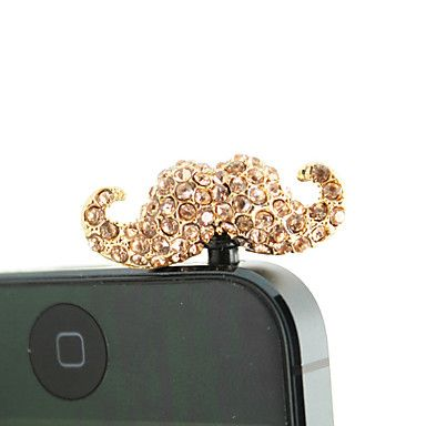 Placcato oro lega zircone Baffi modello anti-polvere spina (colori casuali) – EUR € 2.87