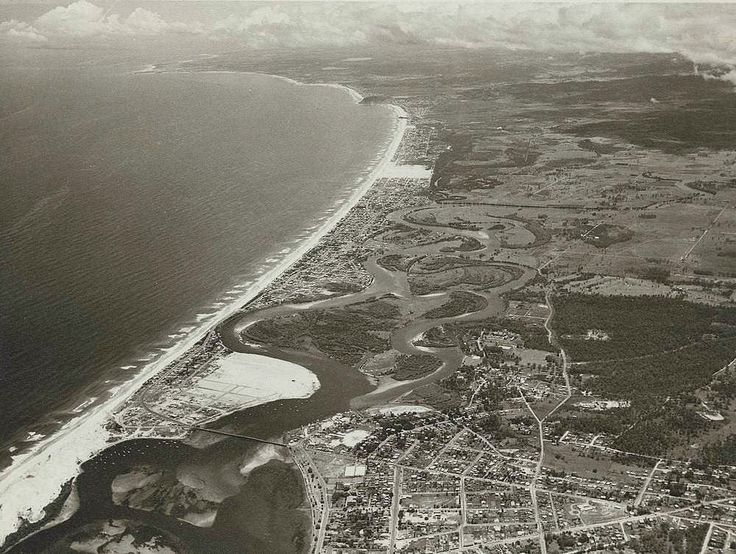 1952 Aerial View Gold Coast to Southport