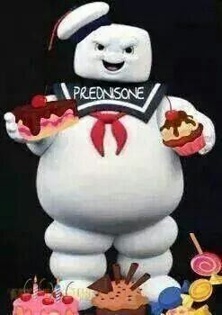 what makes you gain weight on prednisone