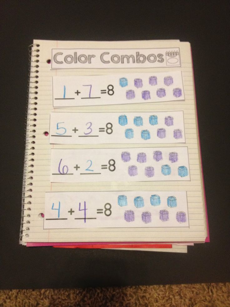 Students show different ways to make numbers and write