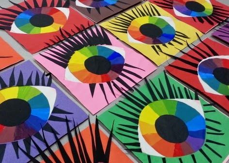 Mrs. Pearce's Art Room : Eyeballs - Color wheel activity #art