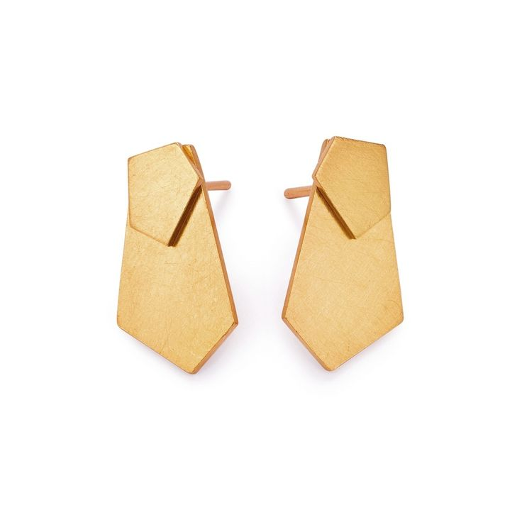Silver and 24k gold plated earrings by Kasia Wójcik