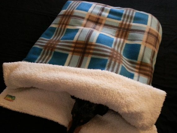 Burrow Bag, Dog Sleeping Bag, Snuggle Sack, Dog Blanket, Dog Bed on Etsy, $20.00
