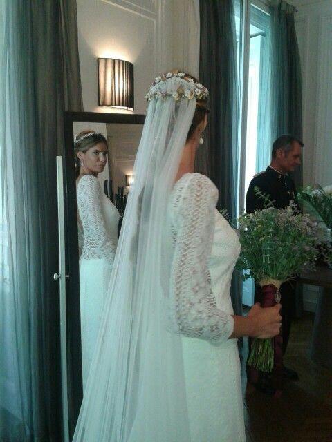 vestido de encaje de bolillos | vestidos de nuestras novias