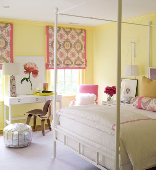 Venetian Blinds Bedroom Bedroom Colour Design Images Bedroom Ceiling Designs Images Dunelm Bedroom Chairs: Little Girls Room : Window Treatments : Yellow Walls