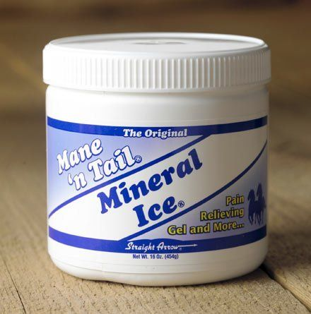 Mane N Tail Mineral Ice 1 lb by Mane N' Tail. Save 3 Off!. $12.73. Cool, fast, temporary relief of minor aches and pains.. Mineral Ice, a time proven pain fighter for your horse that delivers performance in one word -- RELIEF. Cool, fast, temporary relief of minor aches and pains. Reduces muscle and joint pain associated with arthritis, injuries, sprains, strains and bruises. Relieves minor soreness and stiffness from exercise and performing activities. All natural water-base...