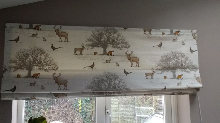 My beautiful roman blinds. Hand made in Fryetts woodland fox fabric.