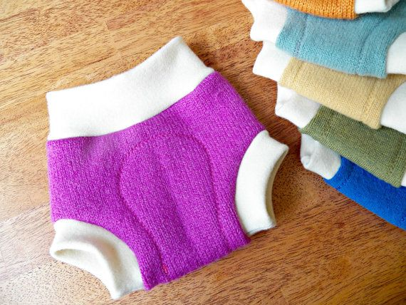 This listing is for one size small cloth diaper cover made from upcycled sweaters. I carefully choose the softest 100% natural fibers for the