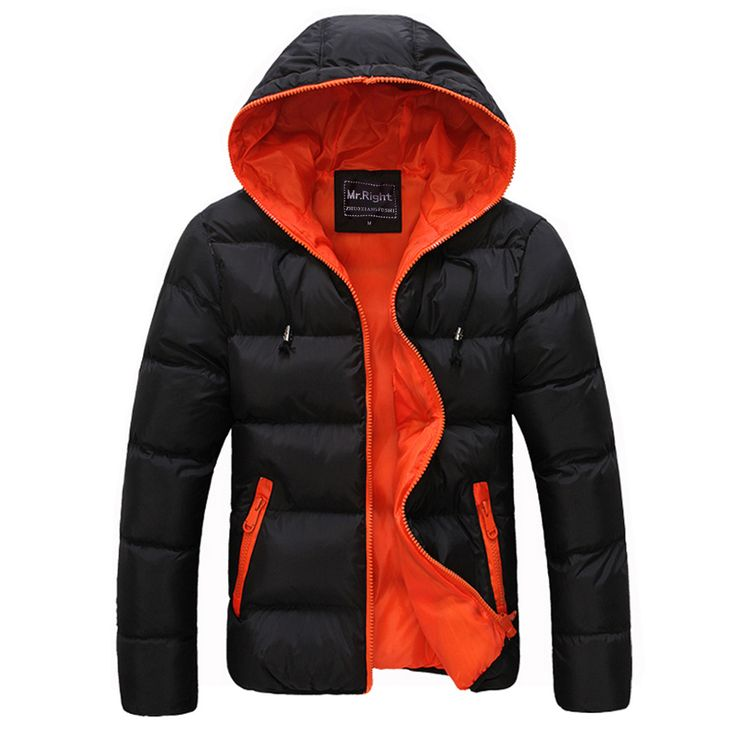 camperas hombre 2016 invierno patched winter jackets mens fashion long sleeve slim fit mens down parka size m-3xl