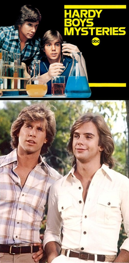 The Hardy Boys/Nancy Drew Mysteries (1977-79, ABC) starring Parker Stevenson & Shaun Cassidy as 'Frank & Joe Hardy' — The series was unusual in that some episodes featured only the Hardy Boys, others featured only Nancy Drew (played by Pamela Sue Martin in Season 1 & 2, and Janet Louise Johnson in Season 3), and other episodes featured all three characters.