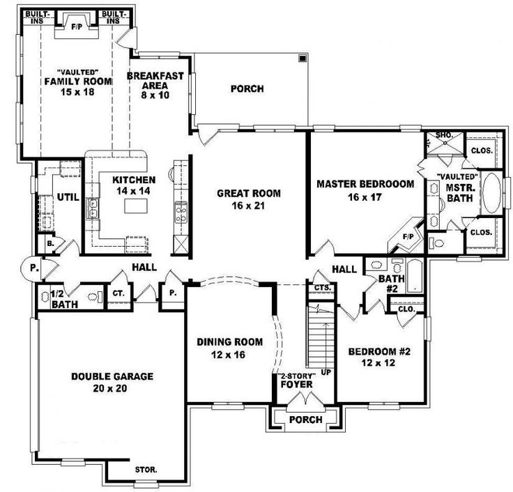 653960 two story 4 bedroom 45 bath french traditional style house plan