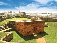 Inside FORT FREDERICK in Port Elizabeth. South Africa - Affordable luxury self catering nearby at http://www.belvederecottages.co.za
