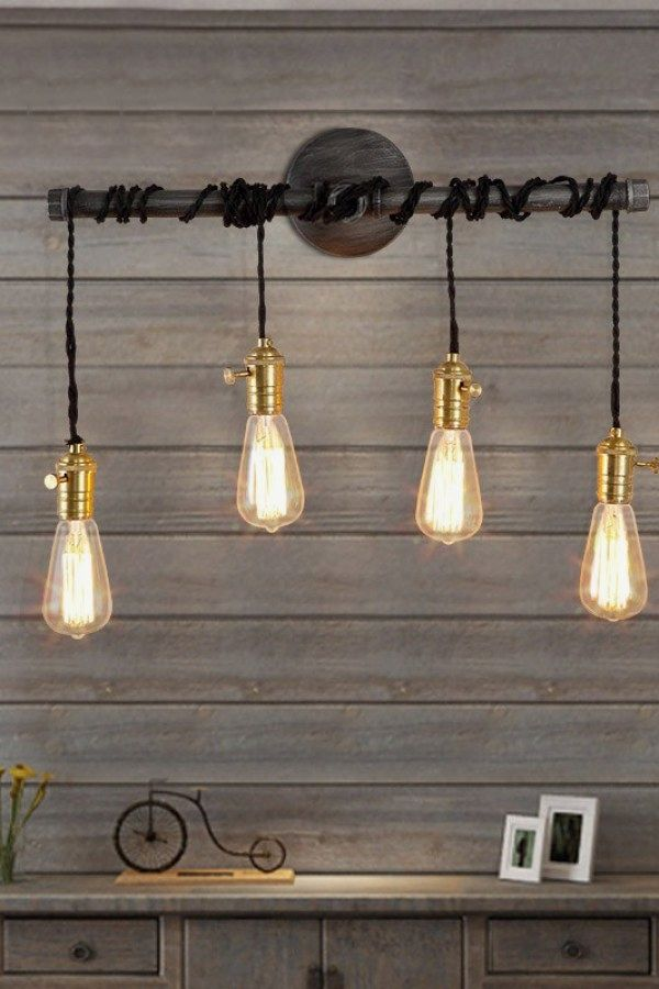 Creative Industrial Style Lighting Projects To Accent Your Industrial Apartment Industrial Light Fixtures Vintage Industrial Lighting Diy Industrial Lighting