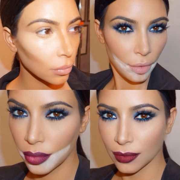 Básicamente, hay que colocar estratégicamente bastante polvo suelto debajo de los ojos y alrededor de los labios para formar un FOSO de maquillaje.