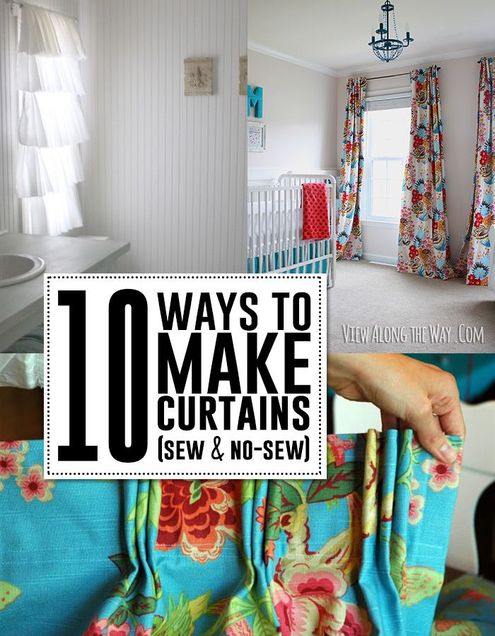 10 great DIY curtain tutorials! Sew or NO-sew!