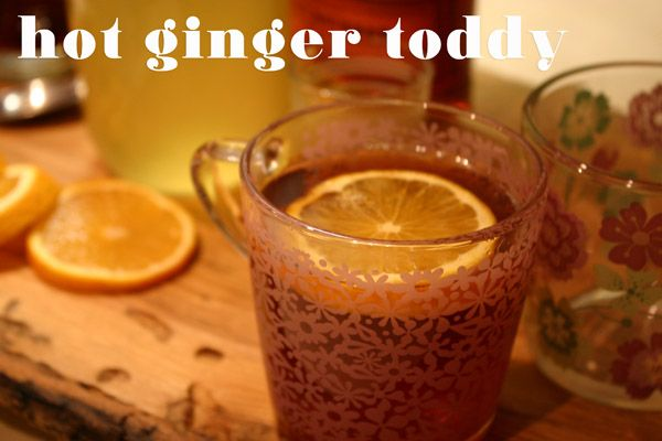 Hot Rum & Ginger Tea Toddy Recipe — Dishmaps