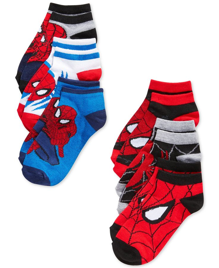 Add a comfy, stylish piece to your wardrobe with this 2-pack of Marvel Spider-Man athletic socks. | Polyester/spandex | Machine washable | Imported | Pack of 2 | Ankle cut | Web ID:2508706