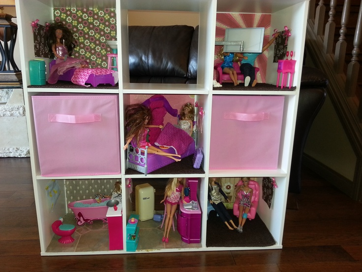 9 Cube Shelving I Turned Into A Barbie House Play