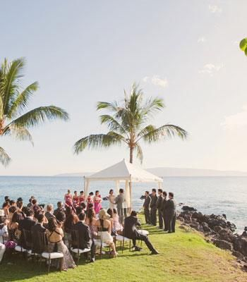 Seaside wedding in Hawaii