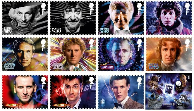 The Royal Mail have confirmed that they will be releasing a special set of stamps to commemorate the 50th Anniversary of Doctor Who.   There will be eleven first class stamps, one for each of the Doctors. A second set features a first class stamp of the TARDIS along with four second class stamps with images of some of the Doctor's iconi...