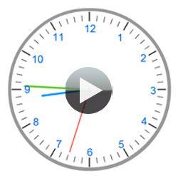 Voici une horloge interactive sous forme d'une animation flash pour réaliser des manipulations avec les élèves durant l'apprentissage de l'heure