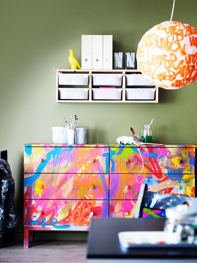 DIY: IKEA TARVA drawers customized with paint