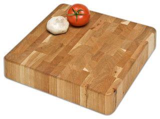 Cherry Chunk Board, 12 x 12 - Contemporary - Cutting Boards - by J.K. Adams Company