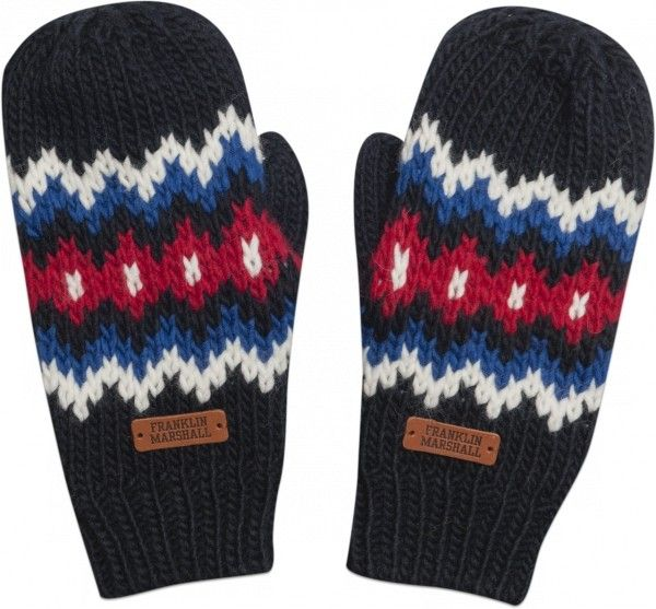 Mittens with geometric motif #FW13